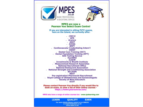 MPES are now a Pearson Vue Select Exam Centre! :)